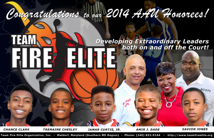 Guess Who was on Fire this Year?  Congratulations to our 2014 AAU Honorees!!
